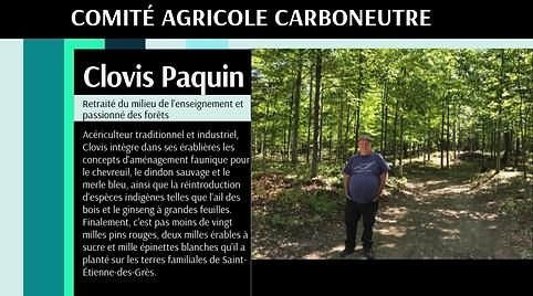 Carboneutralité Comité agricole Clovis Paquin
