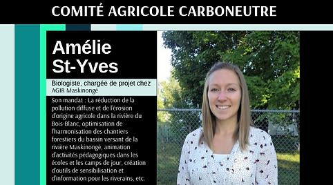 Carboneutralité Comité agricole Amélie St-Yves