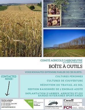 Boîte à outils agricole carboneutre