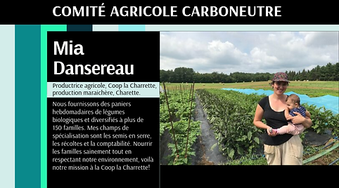 Carboneutralité Comité citoyen Mia Dansereau