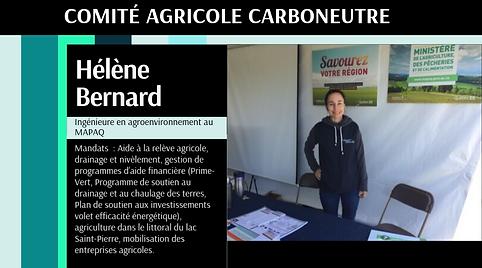 Carboneutralité Comité agricole Hélène Bernard