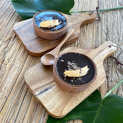 Caramel Macadamia Choc Tart 2pc