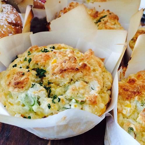 Jumbo Muffin Savoury 4 Asst 12pcs