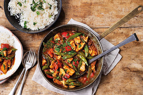 Chicken & Vegetable Curry with Rice