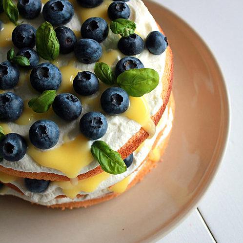 Blueberry & Lemoncurd Cake 30cm