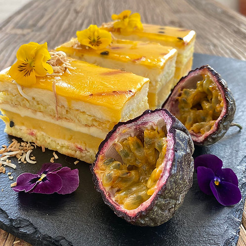 Coconut Passionfruit Mousse Cake 6pc