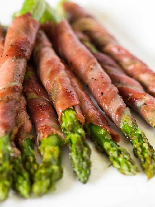Asparagus Wrapped in Proscuitto 12pcs