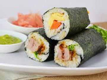 F. Sushi Hand Rolls & Mango & Coconut Mousse