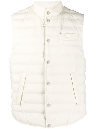 BRUNELLO CUCINELLI Ivory Padded Vest