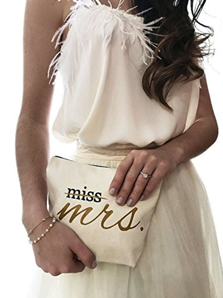 Miss to Mrs Canvas Makeup Bag