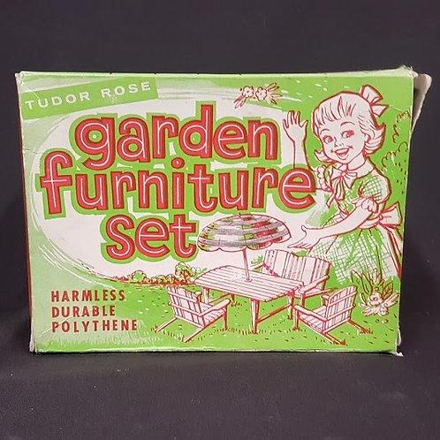 Vintage Toy Tudor Rose Garden Furniture Set