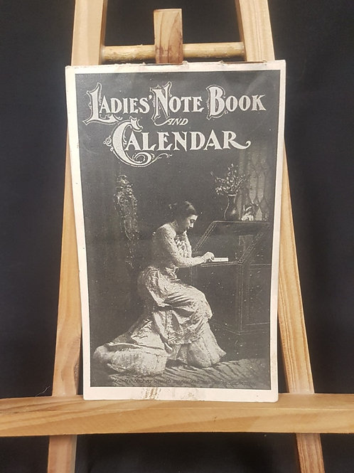 Antique Dr. Pierce's Lady Notebook and Calendar from 1902-03