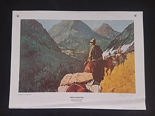 """High Country"" by Howard Terpning Numbered Print (1977)"