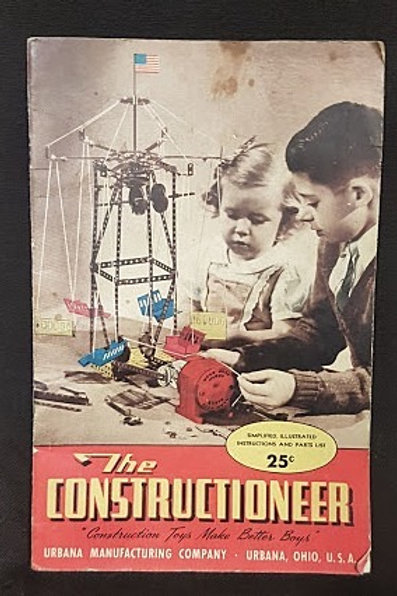 """Vintage """"The Constructioneer"""" Instruction Booklet - Urbana Manufacturing Company"""