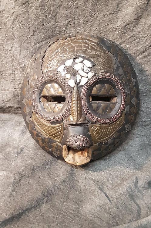 Vintage 1979 Tribal African Moonface Mask