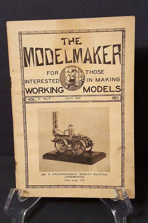 The ModelMaker Vol X No. 7 July 1933 Dewitt Clinton Locomotive