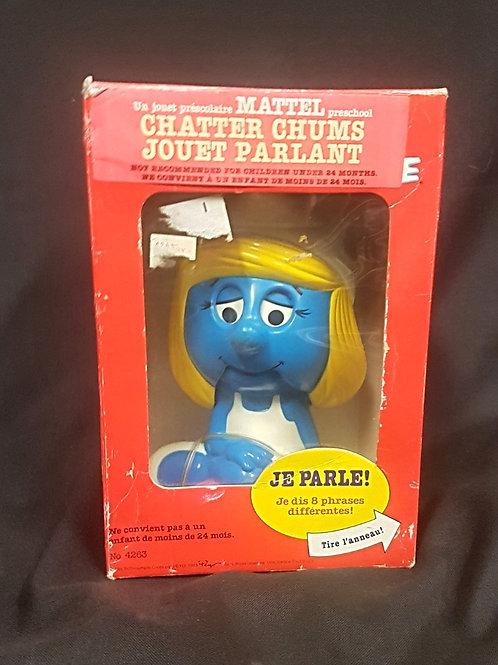 Vintage 1982 French Smurfette Chatter Chum by Mattel Preschool