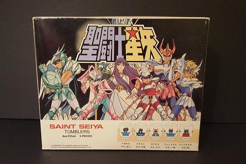 Vintage Animated 1986 Saint Seiya 5 Pc Tumbler Set