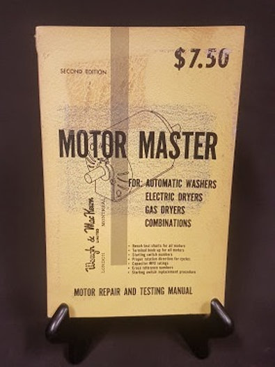 Vintage Motor Master Second Edition - Motor Repair and Testing Manual