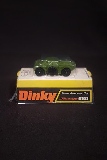 Diecast Ferret Armoured Car Speedwheels 680 - Dinky