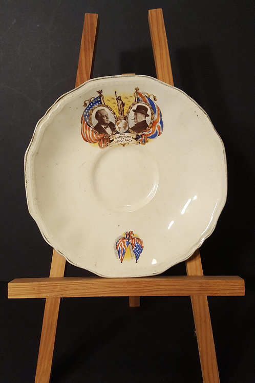 Collectible Roosevelt Churchill 'The Champions of Democracy Saucer