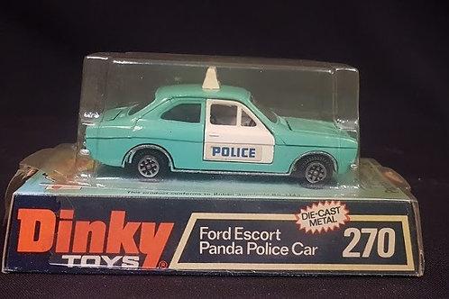 Diecast Ford Escort Panda Police Car 270 - Dinky Toys