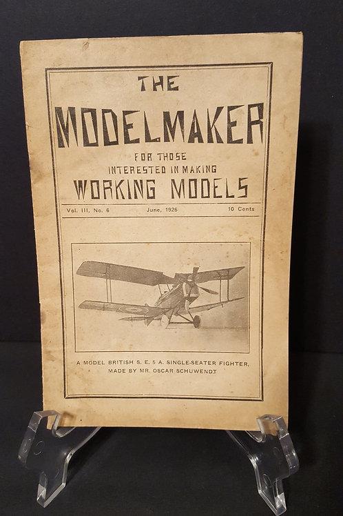 The Modelmaker Vol III No. 6 British SE5A Single-Seater Fighter June 1926