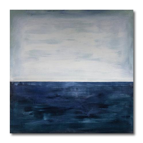 Navy and White Horizon by William Meyer