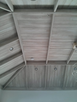 Lime washed ceilings