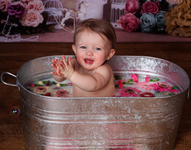 Milk Bath with Flowers
