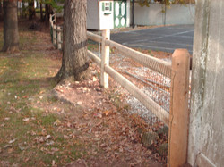 Round Rail Fence with Welded Wire