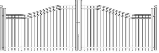 Natinal Fence Systems Double Gate