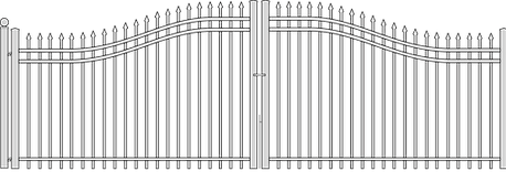 Double Steel Gate by National Fence Systems