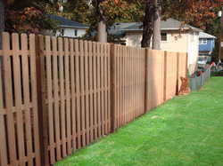 Spaced Board Fence New