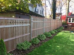 Custom Wood Fence-Diamond Cut Tops