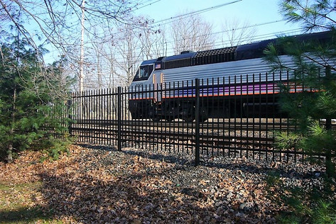NJ Train Station Fence