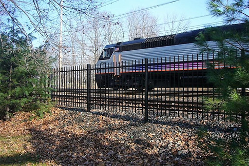 NJ Train Station Fence