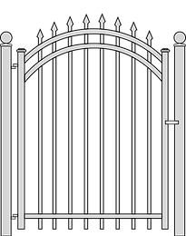 Steel Gate by Natinal Fence Systems