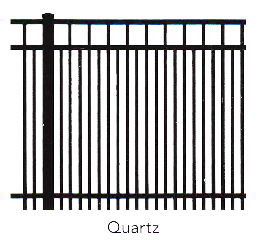Gemstone Quartz Fence