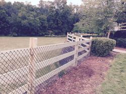 Split Rail Fence with Welded Wire