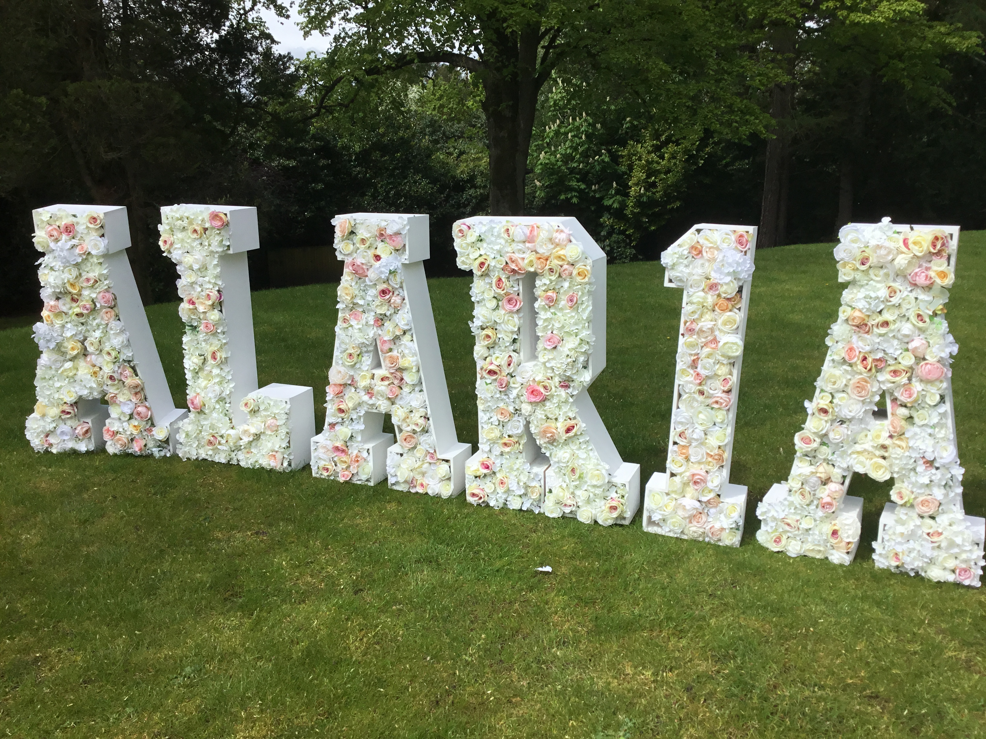 Floral Letters ALARIA Happy Birthday