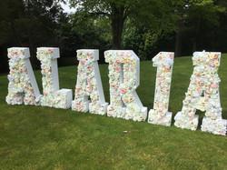 Floral Letters ALARIA Happy Birthday