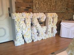 N&B in flowers Floral Letters