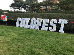 COLOFEST Festival Floral Letters