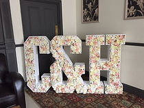 Floral Letters filled with flowers