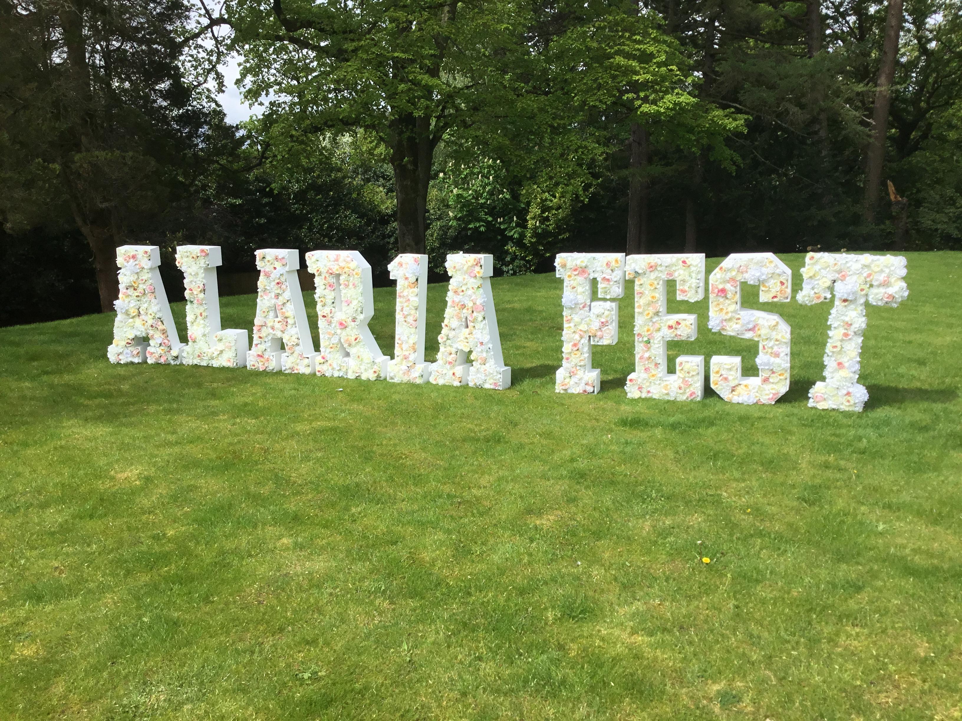 ALARIA FEST Floral Letters