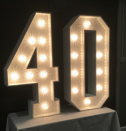 40 Light up letters
