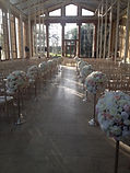 Aisle Decorations Flower Balls Weddig
