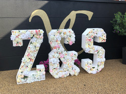 Floral Letters Z&S in flowers