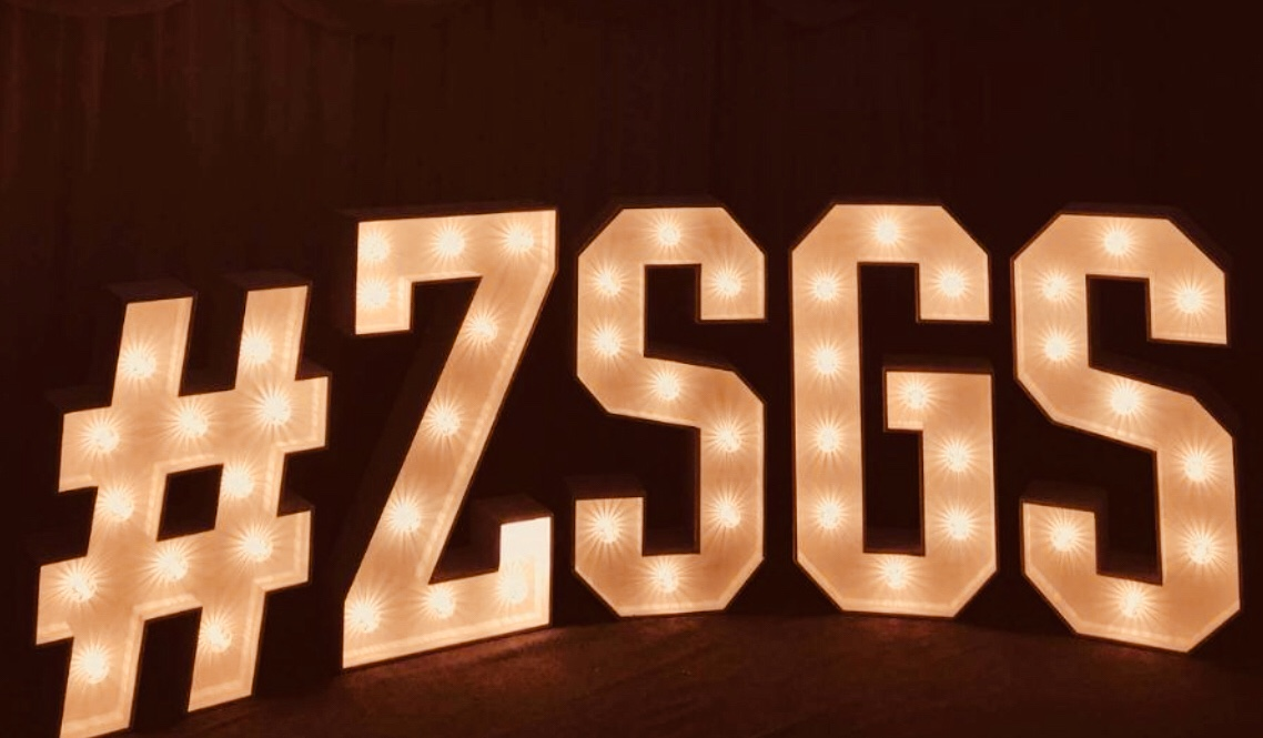 hashtag in light up letters